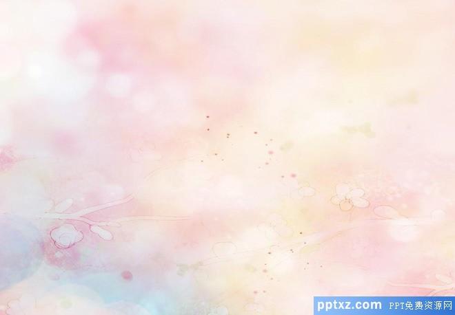 粉色淡雅模糊PPT背景图片