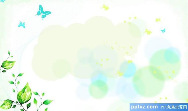 彩绘淡雅PPT背景图片