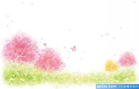Color watercolor white background painting PPT background picture