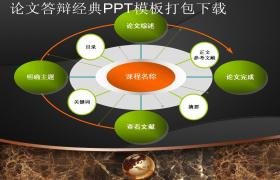 2016年论文答辩经典PPT模板打包下载