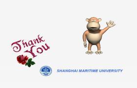 2016年上海海事大学论文答辩流程ppt模板免费下载