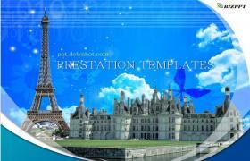 巴黎魔幻风景旅游行程PPT模板下载
