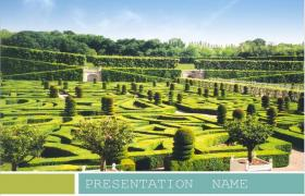 Manor maze tourism powerpoint template