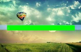 青青草地热气球ppt模板