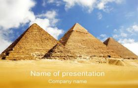 Places of the pyramids of Egypt powerpoint template