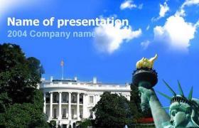 美国风景PPT模板