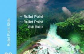 自然瀑布风光PPT模板