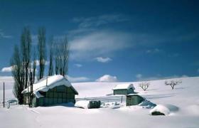 自然雪景风光PPT模板