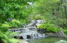 自然高山流水PPT模板