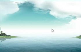 大海海岸灯塔风光PPT模板