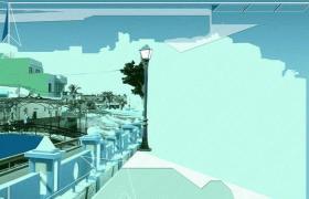 魔幻城市建筑景观PPT模板