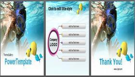 海上潜水旅游PPT模板下载下载