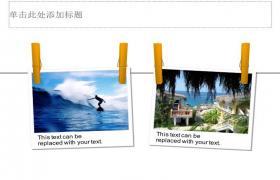 用于旅行照片显示的PPT模板下载