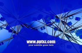 蓝色炫酷科技系列PPT模板下载
