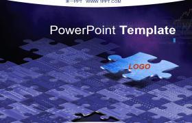 金属质感很强的科技风格PPT模板下载下载