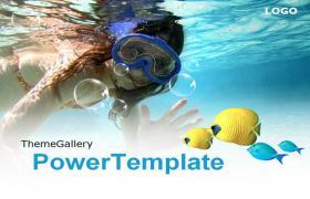 旅游海洋潜水旅行类PPT模板下载下载