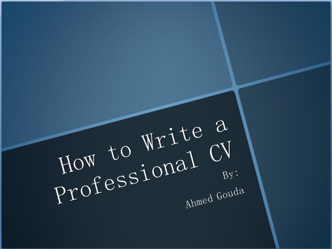 如何让你的简历更专业英文版PPT