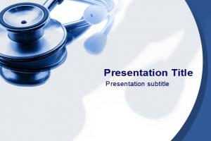 听诊器PPT模板下载