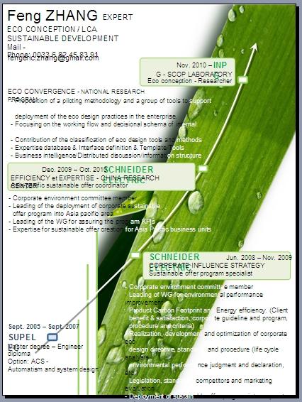 一页纸简历-绿叶风格PPT