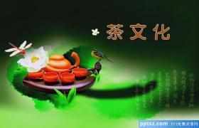 清新茶文化PPt模板