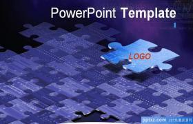 科技金属质感风格PPT模板