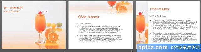 橙汁饮料背景餐饮美食<a href=http://www.pptxz.com target=_blank class=infotextkey>PPT模板</a>