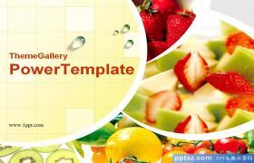 水果沙拉PowerPoint模板下载