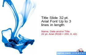蓝色化学液体白色背景PPT模板下载下载