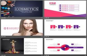 化妆品背景PPT模板下载