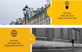 黄色时尚,欧美风格,排版PPT模板下载