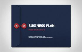 Blue and White Creative Document Bag Business PPT Template