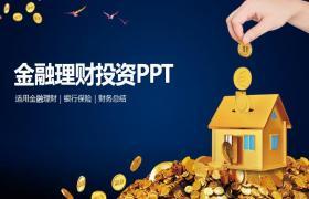 金币住宅背景下的金融投资与金融管理PPT模板下载