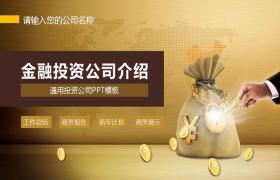 金融投资公司介绍PPT模板下载