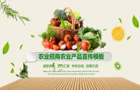 蔬菜农业背景PPT模板