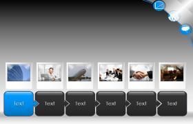 灰色现代商务会议流程PPT模板下载