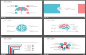 软多边形背景工作计划PPT模板下载