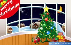 圣诞节三张精美动态PPT动画贺卡下载