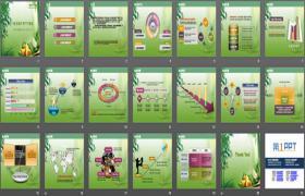 绿色背景端午节PPT模板下载